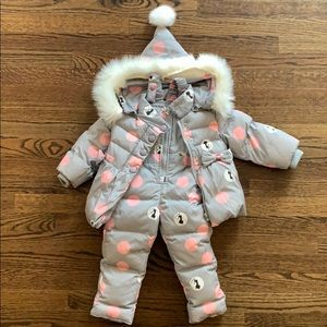 Girls 2-piece snow suit with puffer jacket size 2T